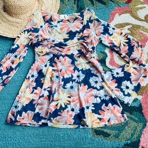3/$20 Sweet Pea Floral Top